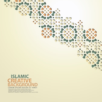 Islamic design greeting card background template