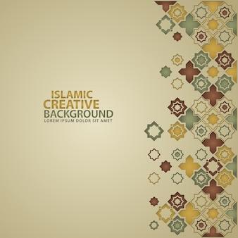花のモザイクの装飾的な詳細を持つイスラムのデザイン。