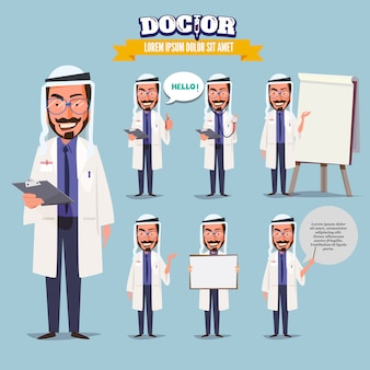 Islamic doctor in various actions