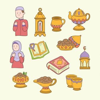 Исламский рисунок искусства для рамадан карим иллюстрации
