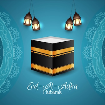 Islamic eid al adha mubarak religious background