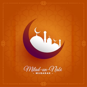 Islamic eid milad un nabi barawafat festival greeting card