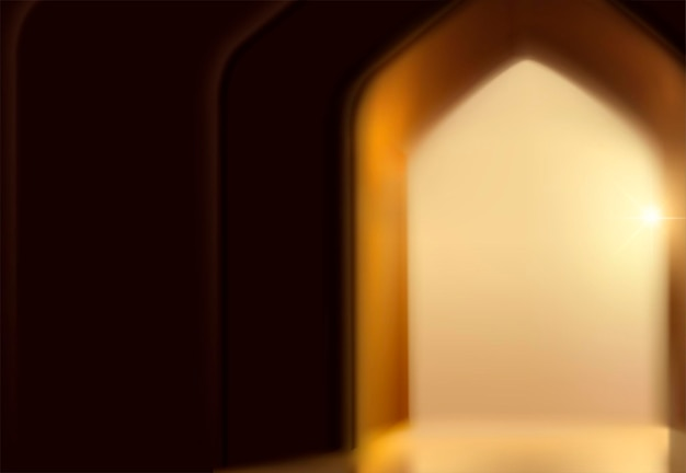 ボケ効果のアーチドアとイスラム祭の背景