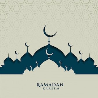 Islamic festival card for ramadan kareem season