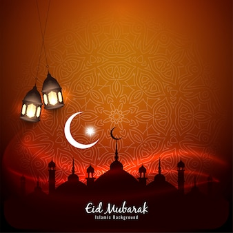Islamic festival eid mubarak background