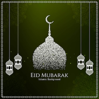 Islamic festival eid mubarak elegant