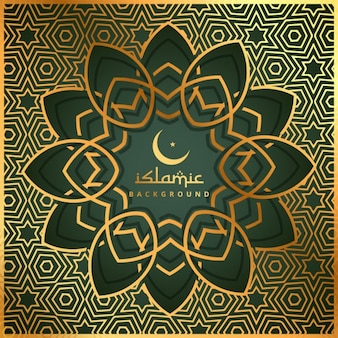 Исламское фон форма с золотым узором