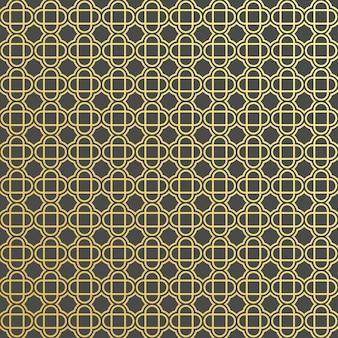 Islamic geometric circular ornamental seamless pattern