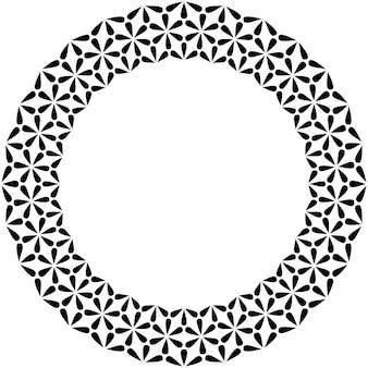 이슬람 기하학적 인물 장식 라운드 프레임. 아랍어 원형 테두리입니다. 벡터 및 그림입니다.