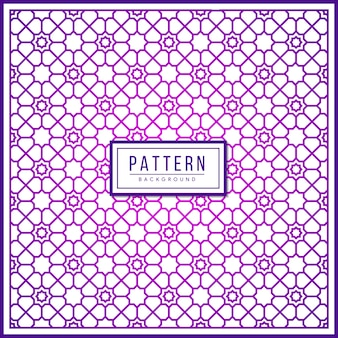 Islamic geometric pattern. using border and two colors