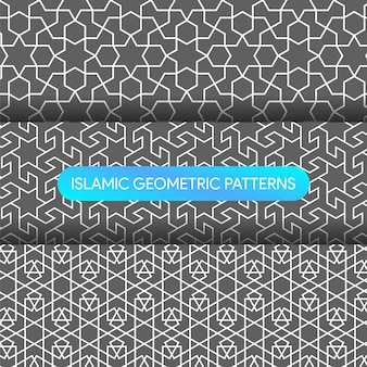 Islamic geometric patterns backgrounds collection