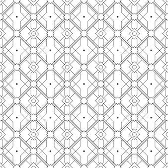 고급 바틱 스타일의 이슬람 기하학적 원활한 패턴 배경 벽지