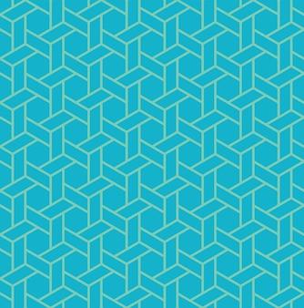 イスラムの幾何学的なシームレスパターン