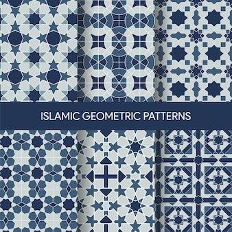 Islamic geometric seamless patterns textures collection