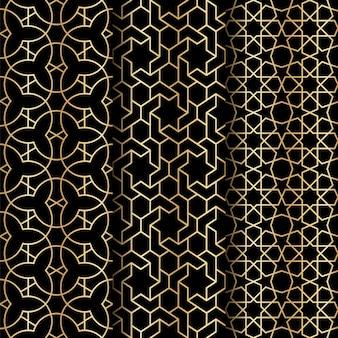 이슬람 기하학 패턴 프리미엄 벡터