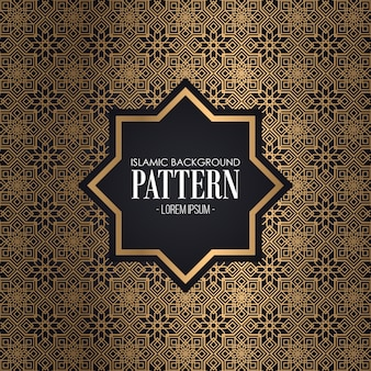 Islamic Gold Background Pattern