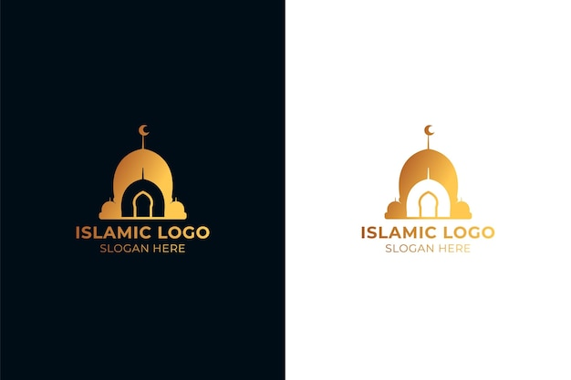 Islamic golden logo in two colors
