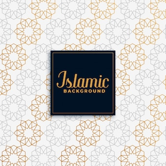 Islamic golden pattern  background