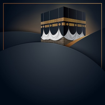 Islamic hajj greeting card