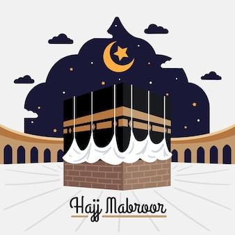Islamic hajj pilgrimage illustration
