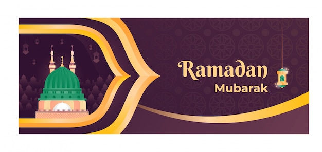 Islamic illustration banner