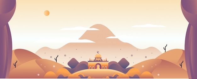 Islamic illustration landscape