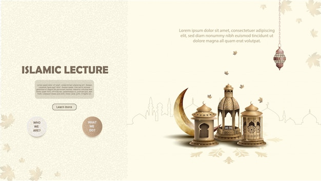 Islamic lecture concept banner