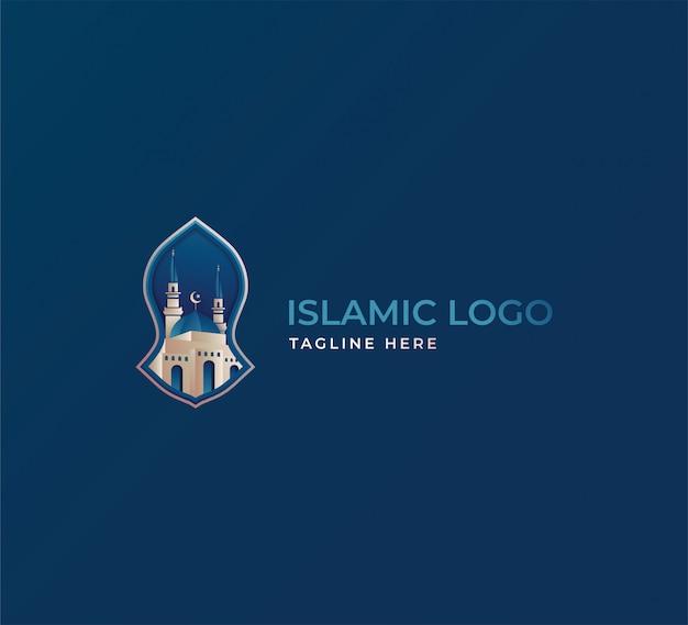 Исламский логотип синий