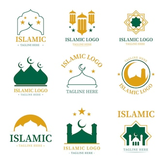 2色のイスラムロゴコレクション