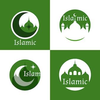 Collezione logo islamico