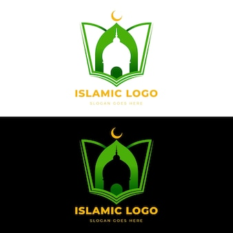 Islamic logo concept in two colors