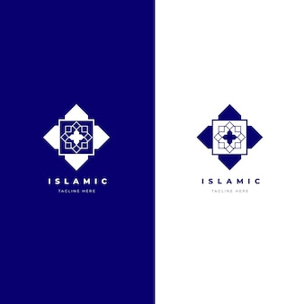 2色のイスラムロゴ