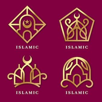 Исламский логотип набор шаблонов