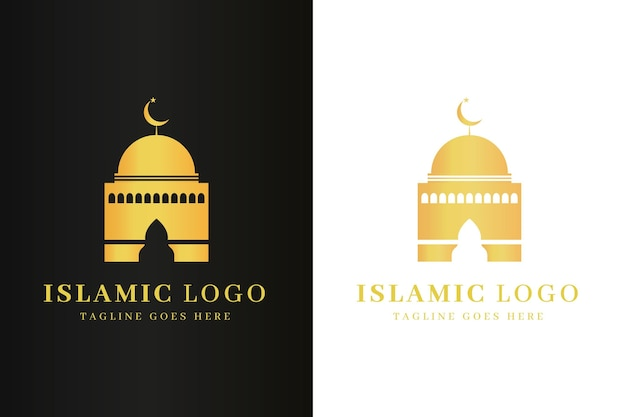 Islamic logo in two colors template