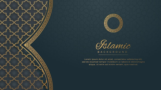 Islamic luxury ornament border frame arabesque pattern background