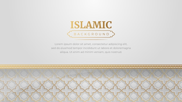 Islamic luxury ornament frame arabesque pattern background