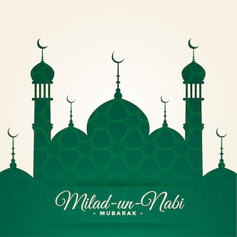 Islamic milad un nabi festival card design