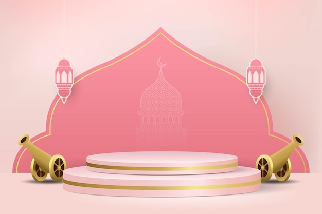 製品展示のためのイスラムの最小限の3d表彰台