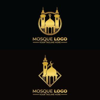 イスラムモスクのロゴデザインのインスピレーション