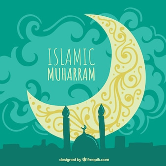 Islámic new year background
