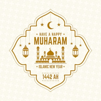 Islamic new year concept