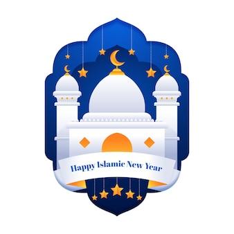 イスラムの新年のコンセプト