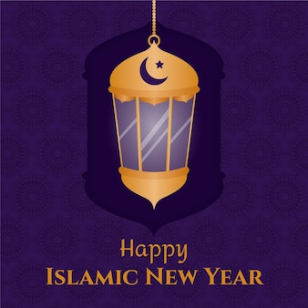 Islamic new year flat design