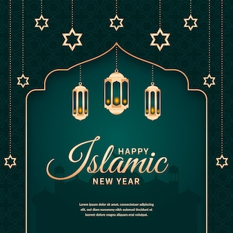 Islamic new year illustration design