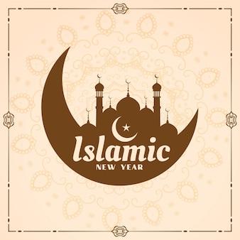 Festival muharram del nuovo anno islamico sullo sfondo dei musulmani