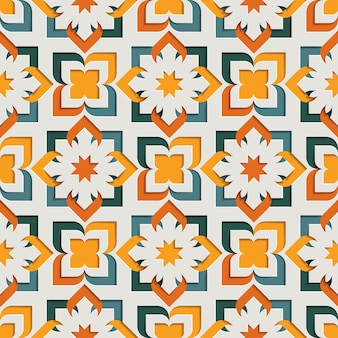 Исламские восточные цветочные абстрактные арабески бесшовные модели для рамадан карим. восточный мотив бумаги стиль фона