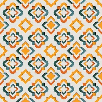 イスラムの東洋の装飾的な唐草模様のシームレスなパターン。東モチーフ紙風背景