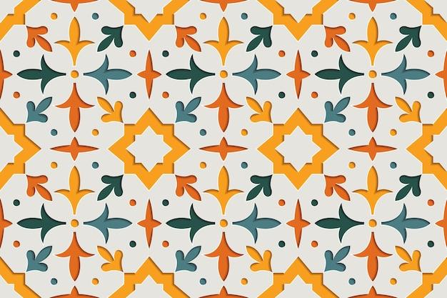 Islamic ornamental arabesque seamless pattern. east motif paper style background