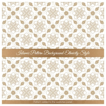 Исламский узор фона этнической принадлежности коричневый стиль
