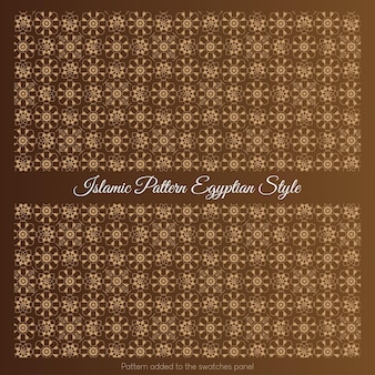 Islamic pattern egyptian style. arabic pattern with gold color.